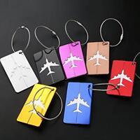 7X Aluminum Alloy Luggage Tags Labels Baggage Handbag ID Name Card Tag W
