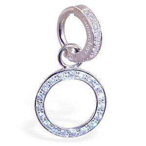 Tummytoys Silver Pave Set CZ Ring with Circle Of Life CZ Swinger Charm[TT-66085]