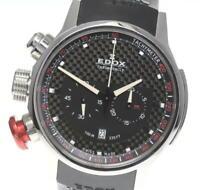 EDOX Chrono Rally 10302 Date black Dial Quartz Men's Watch_558229