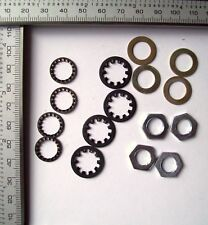4  Potentiometer Steel Nuts / Steel Washers / Large + Small Serrated Washers