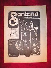 Santana - 1973 Uk Full-Page Ad 'Welcome' Album (Melody Maker Magazine)