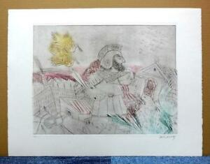 """ALECOS FASSIANOS""""MYTHOLOGIE QUOTIDIENNE""""ORIGINAL ETCHING SIGNED and NUMBERED #3"""