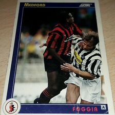 CARD SCORE 1993 FOGGIA MEDFORD CALCIO FOOTBALL SOCCER ALBUM