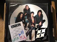 "Union John Corabi & Bruce Kulick 12"" Picture Disc Motley Crue Kiss W/autographs"
