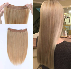 "Lovrio 16"" Halo Human Hair Extensions, Ash Blonde"