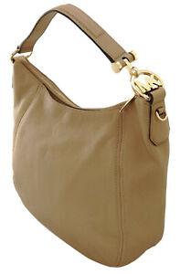 Michael Kors Fulton Shoulder Hobo Bag Dark Khaki Brown Soft Leather RRP £310