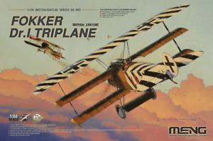 Meng Model 1/24 QS003 Fokker Dr.I Triplane