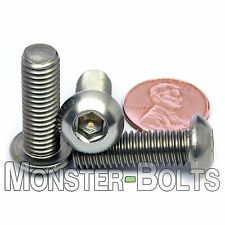 M8 x 25mm - Qty 10 - A2 Stainless Steel BUTTON HEAD Socket Cap Screws - ISO 7380