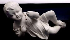 "Antique German Bisque Piano Baby Small Doll Figurine Grafenthal Mark 4.5"" X 2.5"""