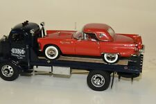 Danbury mint 1938 Gmc (General Motors Corp.) Car Carrier Blue with 1956 T-bird