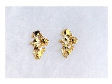 10k Real Gold Yellow Nugget Stud Earring Unisex Men Ladies