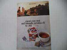 advertising Pubblicità 1973 THE' TE' ATI
