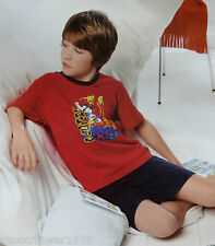 NEU Kinder Shorty Disney Mickey Maus Nachtwäsche Schlafanzug Shorts & Shirt 116