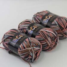 Colorful 3ballsx50g Cotton Soft Baby Hand-dyed Wool Socks Scarf Knitting Yarn 23