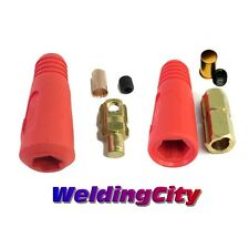 Welding Cable Quick Connector Pair (Red) 200-300A #4-1/0 35-50mm US Seller Fast