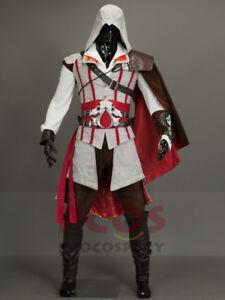 In Stock&Ready Ship~ Assassin Ezio Auditore da Firenze Cosplay Costume mp000169