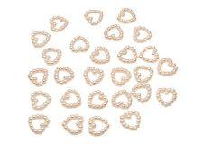 200 pink pearl en forme de cœur double face 11mm Décoration de table scatter perles