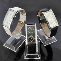New SOKI Womens Dual Time Analog Quartz Ladies Wrist Leather Band Watches W36T