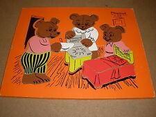 vintage Playskool THREE BEARS wood tray PUZZLE