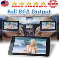 1024x600 9'' Thin TFT LCD Headrest DVD Monitor HD video input Radio Monitors NEW