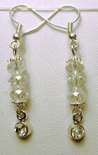 Dangle earrings - sparkly faceted glass crystals
