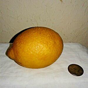 Vintage Italian Carved Alabaster Stone Fruit: Lemon