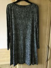 M&S Ladies casual black and white dress size 12