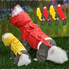 Waterproof Dog Raincoat  Medium Dogs Reflective Pet Hoodie Rain Clothes Rainwear