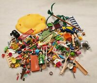 Playmobil Spare Parts Bundle Nativity Angel Stable Island Palm Trees Tools Sword