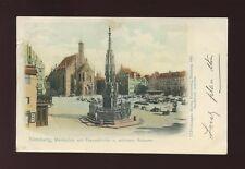 Germany NURNBERG Nuremberg Marktplatz mit Frauenkirche 1903 u/b PPC