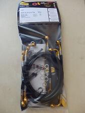 DUCATI MONSTER 750 / 900 SPIEGLER STAHLFLEX vorne_hinten_Kuppl. GOLD_SCHW.  D263