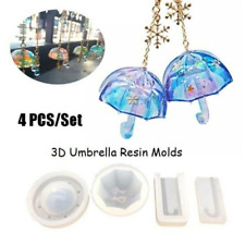 UV Resin 3D Umbrella Jewelry Silicone Mold DIY Decorate Making Jewelry Moulds