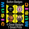 "BIFFY CLYRO   - 4 GREAT BUTTON BADGES - 25mm -1"" CD4567"
