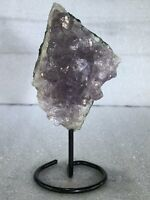 "5"" Amethyst Cluster Crystal Quartz Natural Stone W/ Stand"
