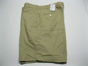 New - Martin Golf Khaki Flat Front Solid Twill Club Shorts size 38