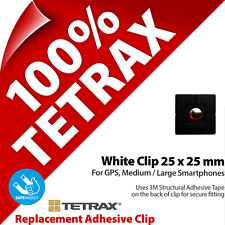 1 x Tetrax Replacement Adhesive Clip 25 x 25 mm Black (For use with Holder)