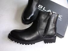 NEU BLACK Chelsea Boots Stiefelette in echt Leder -  SCHWARZ - Größe 37 - 42