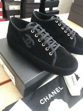 CHANEL – VELVET BLACK TRAINER SNEAKERS BNIB size EU 39 UK 6 (RARE)