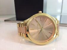 Michael Kors MK3493 Armband Uhr SLIM RUNWAY Gold Rosegold Uhren Damenuhren neu