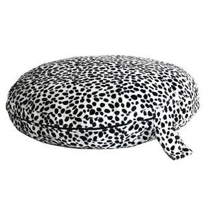 Dirty Dog Dalmatian Dog Bed Circular Pet Bed with Orthopedic Rebound Foam