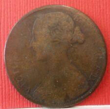 Great Britain Queen Victoria 1861 1 Penny  KM#749.2  A-960