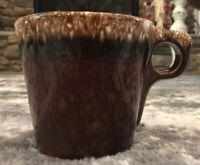 Hull Oven Proof USA Brown Drip Glaze Pottery Coffee Tea Mug Cup O Handle VINTAGE