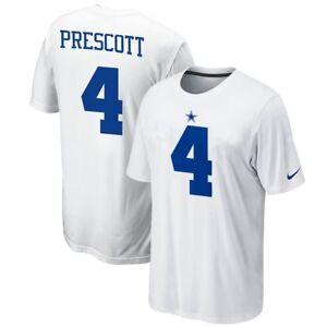 NIKE Dallas Cowboys Dak Prescott #4, Youth T-Shirt, Color White, Size Large