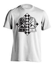 New Men's Clothing Chess Board T-Shirt Knights Face Off Gaming Graphic Tee