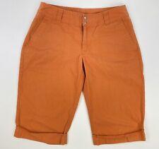 Patagonia Womens Size 6 Orange Organic Cotton Snap Closure Cuffed Bermuda Shorts