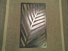 "Palm Leaf Metal Art Sculpture Panel Bohemian Decor Boho 16""x28"" plasma-cut steel"