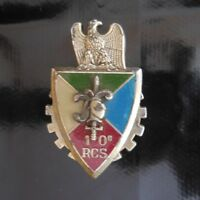 Medaglietta Patch Emblema 10e Rcs Esercito Terra Chalons su Marna Pn Francia