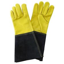 Kent & Stowe Luxury Leather Gauntlet Gloves Mens Large Pair Yellow Heavy Duty