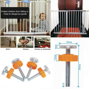 Baby Safety Stair Gate Screws/Bolts Kit With Locking Nut Spare Part Accessories-
