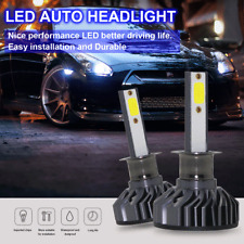 Pair Mini H1 DOB LED Car Headlight Fog Light Kit High Low Beam Bulb 80W 6000K